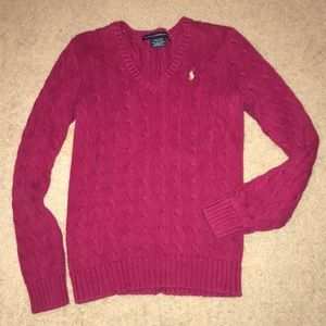 Gently used Ralph Lauren sport thick knot sweater